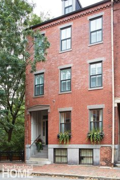 The 1860 Boston brownstone was converted back to a single-family home.