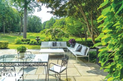 Traditional outdoor patio