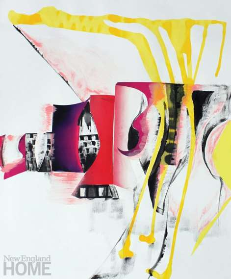 """Work from the Drift series (2014), collage on paper, each 17""""H × 14""""W."""