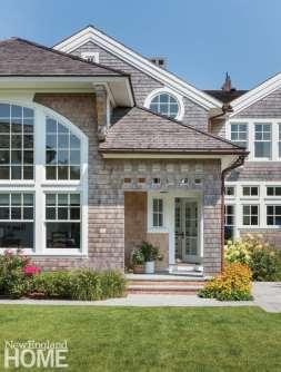 Exterior shingle style home