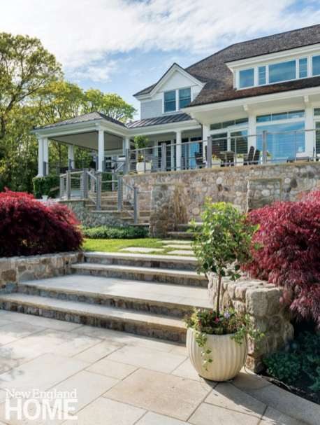 Fieldstone terrace