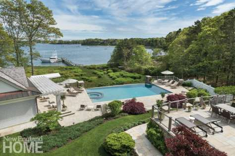 Cape Cod Pool sloping lot