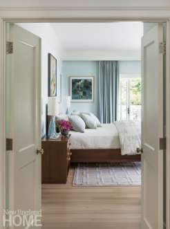 Elegant coastal master bedroom