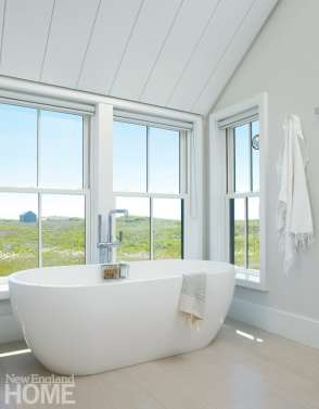Soaking tub with a Nantucket view