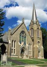 The Gothic Revival-style Southport Congregational Church.