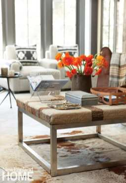 Coffee table, ottoman, Lillian August