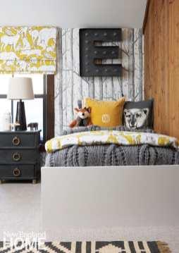 kids' bedroom, woodsy palette, textures