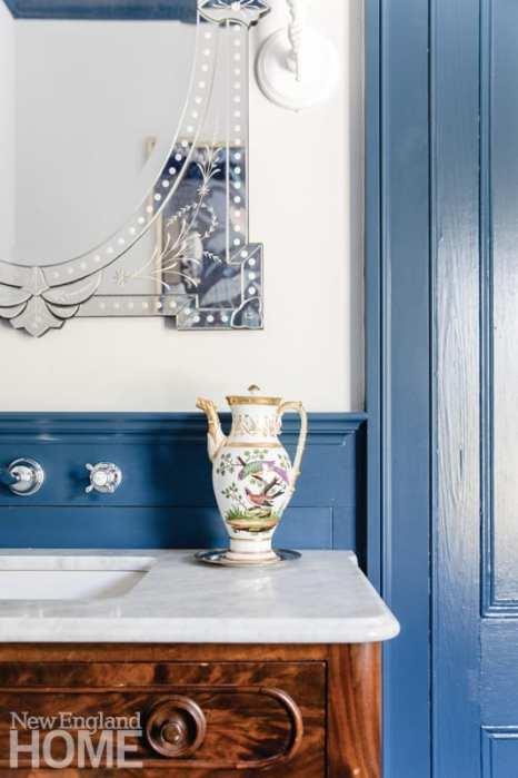bathroom, vanity, blue