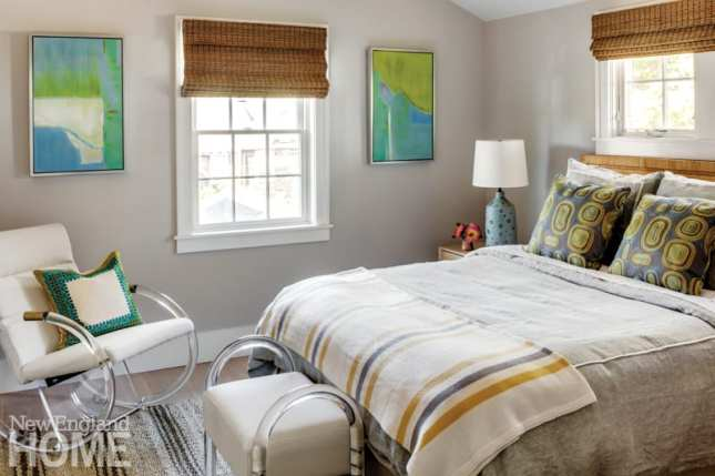 a newport vacation home's guest bedroom