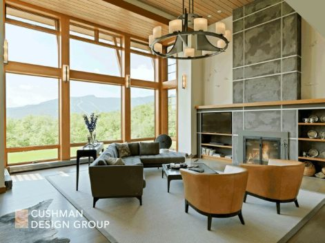 Five Essential Elements for a Home that Nurtures the Spirit: Mountain Modern great room
