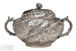 Gorham Silver exhibit at RISD tureen