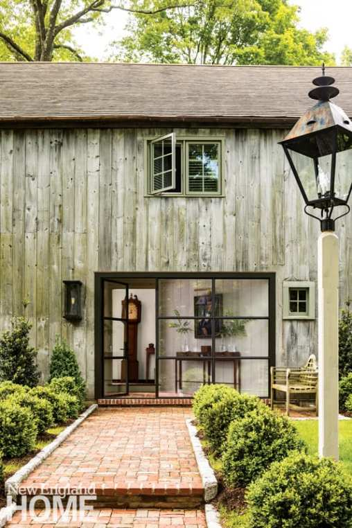 contemporary and traditional in wilton exterior