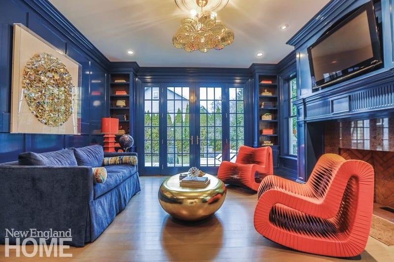 transforming a spec house blue and orange