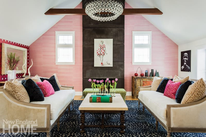 family friendly design pink walls