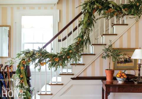 connecticut country house stairs
