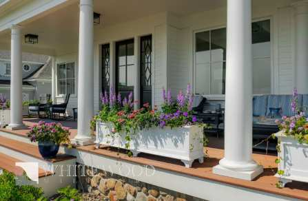 custom exterior millwork flower box