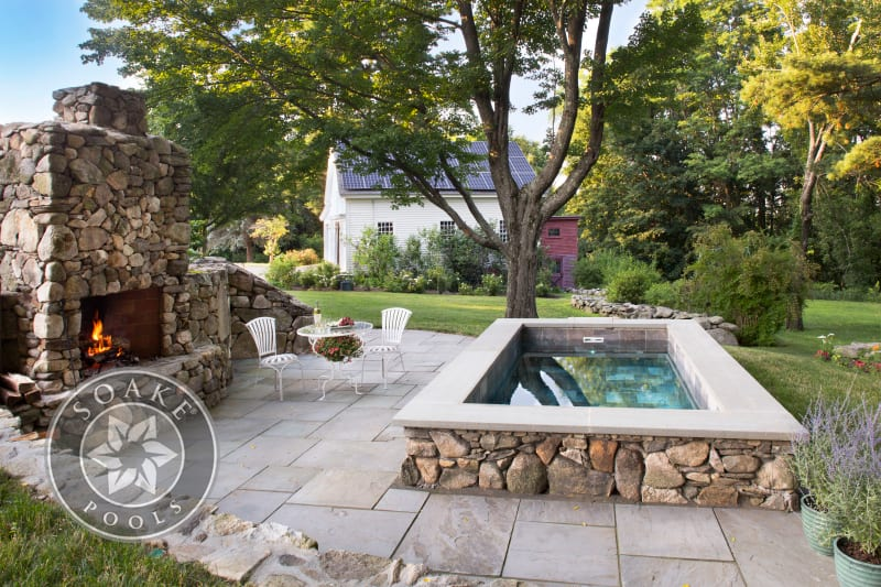 Plunge Pool New England fire