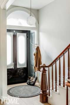 historic south end townhouse staircase