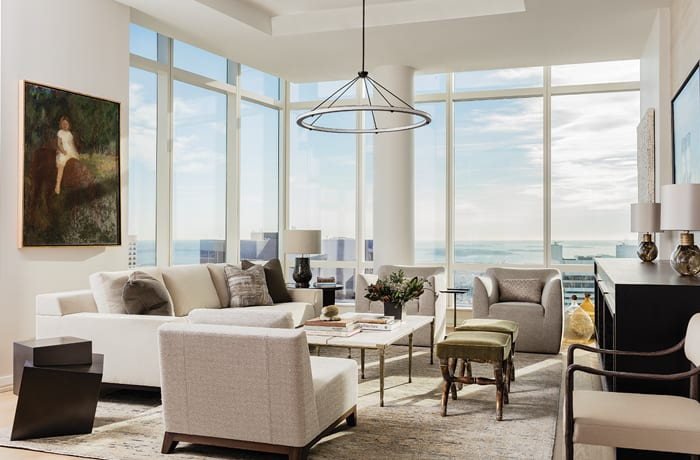 boston high-rise living room