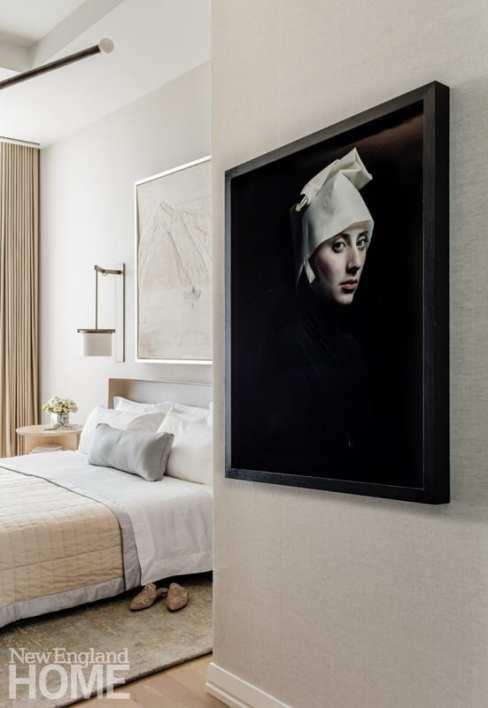 boston high-rise bedroom artwork