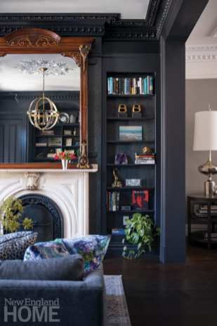 rutland square brownstone fireplace