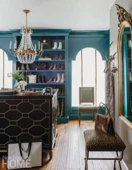 Andover condo blue dressing room
