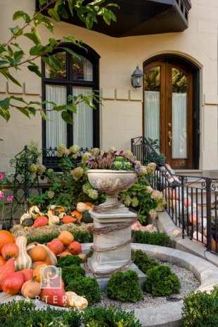 beautiful garden year long fall stoop