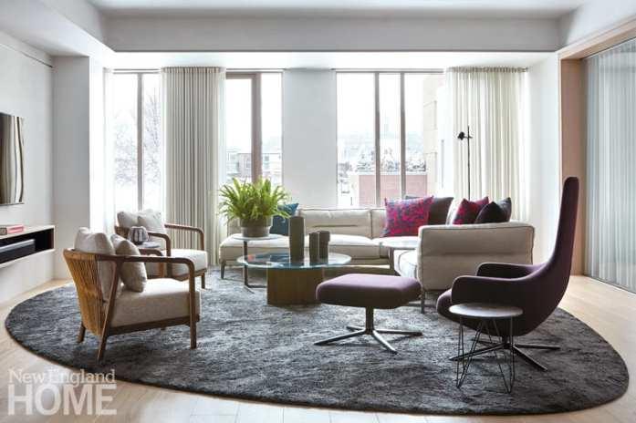 south end condo living room