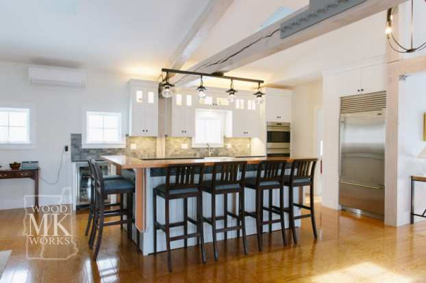 ways to modernize custom cabinets kitchen counter
