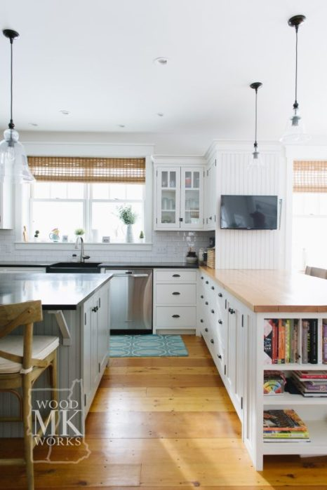 ways to modernize custom cabinets family kitchen