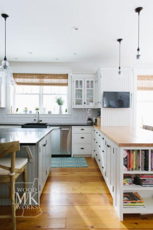 ways to modernize custom cabinets family kitchen