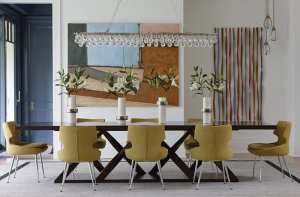 modern riverside home dining room