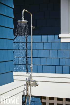 bright maine summer home outdoor shower
