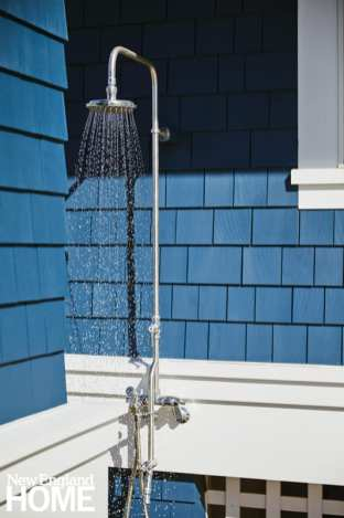 bright maine summer home outdoor shower