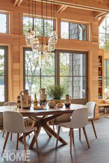 sophisticated berkshires cabin dining room