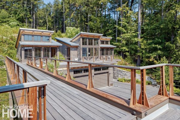 sophisticated berkshires cabin exterior