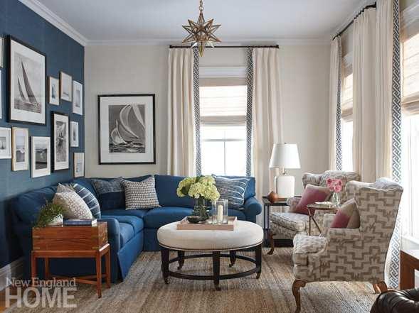 Mystic River historic home living room