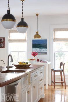Mystic River historic home kitchen