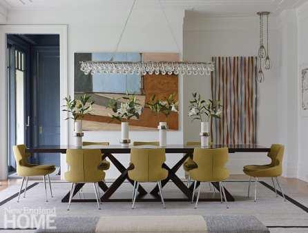 modern riverside home dining room