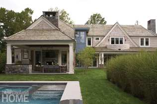 modern riverside home exterior