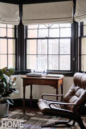 Bay window with table at Portland's Blind Tiger