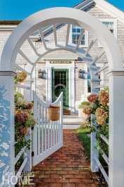 Garden gate on Nantucket