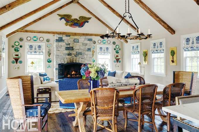 Traditional Nantucket style great room