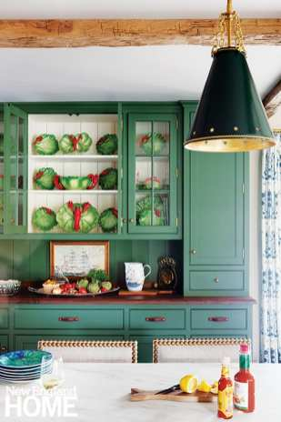 Traditional green kitchen cabinetry