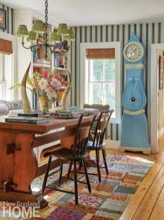 Dining area in a Vermont home designed by Michael Maher