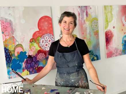 The artist in her studio.