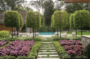 A Landscape Designed with Multiple Outdoor Spaces