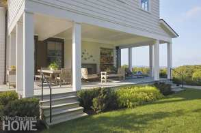 The covered porch is a favorite spot for relaxing.