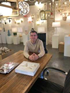 Jeff Pomeroy at his at his Light Room Boston showroom.