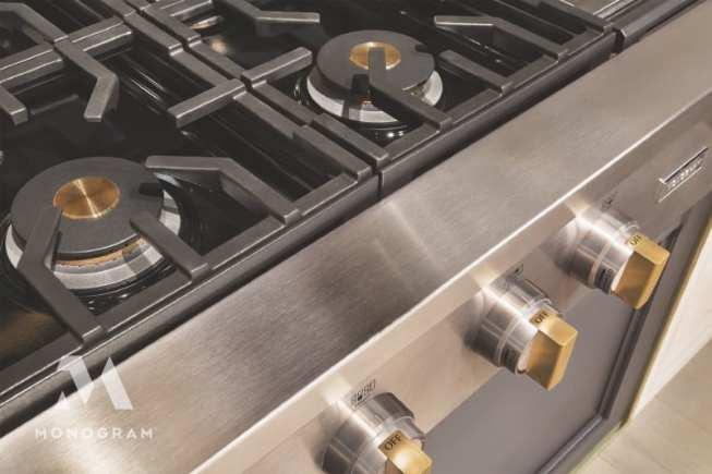 Detail Monogram appliance knobs and burner